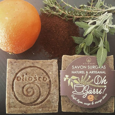 savon naturel au cafe oliosco